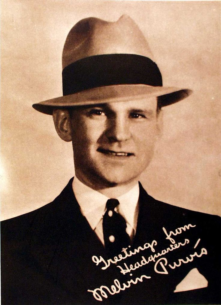Melvin Purvis (1903-1960) Was the F. B.I. Agent responisble for bringing John Dillinger and Baby Face Floyd to justice. He was born in Timmonsville SC.