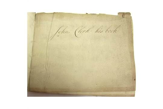 Clerk, John, Baronet of Penicuik - Manuscript Scottish Music 39 leaves of musical notation, main