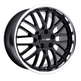 """Manta Black - It has always been hard fitting aftermarket wheels on Corvettes. But Cray Corvette wheels change all this. Cray Corvette wheels even accept the original Corvette center cap. Plus, all Cray Corvette wheels take the original Corvette air sensor and are Corvette """"hub-centric,"""" ensuring you and your 'Vette the smoothest ride. Featuring jaw dropping styles like the MANTA - BLACK, Cray Wheels offer the world's widest range of one-piece staggered Corvette wheels."""