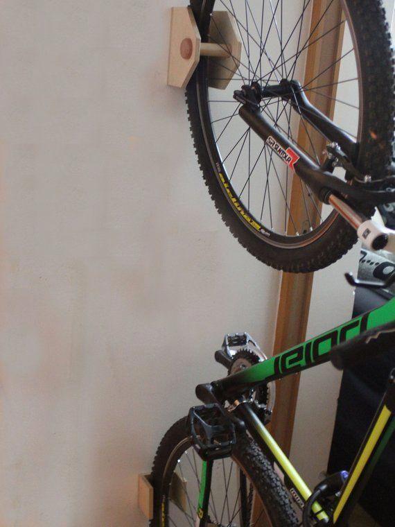 Bike Rack Wall Mount Wooden Bicycle Holder Bike Rack Bicycle