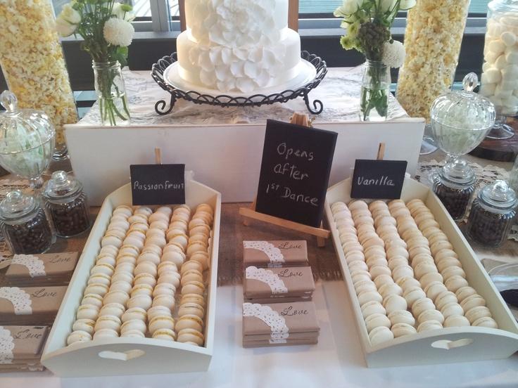 Vanilla & Passionfruit Macarons