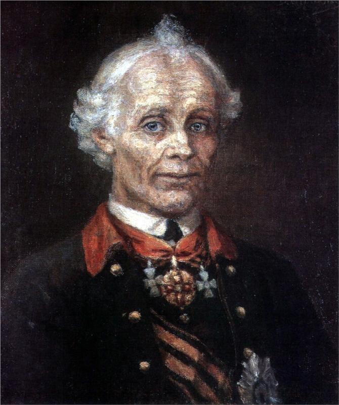 Portrait of Alexander Suvorov, 1907  Vasily Surikov