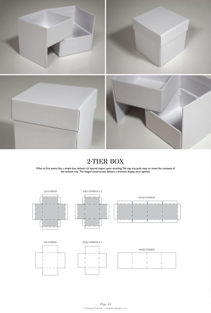 2-Tier Box - Packaging & Dielines: The Designer's Book of Packaging Dielines