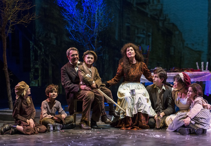 The Cratchit Family Left to Right Marie Sullivan