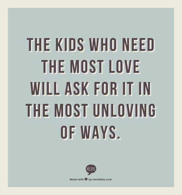 Over moeilijke kinderen..1tje om altijd te onthouden ....