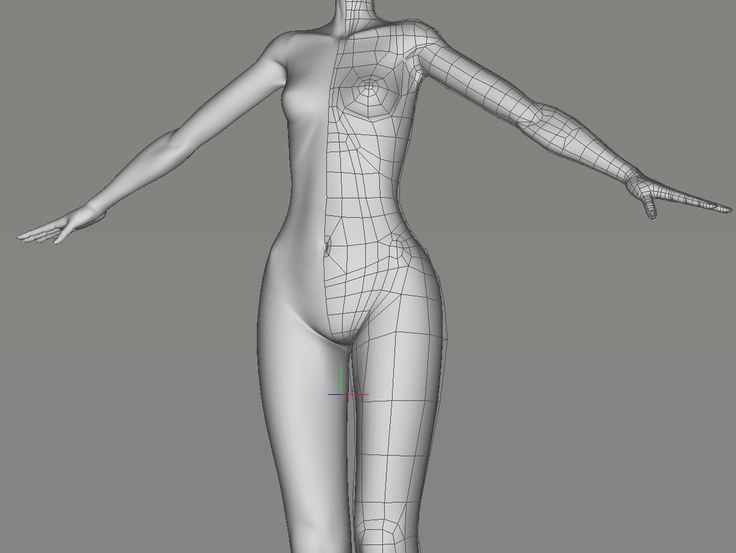 """""""脂肪少なめでちょっとすじっぽい感じの人体モデル作ってた。頭部も作ってあるけどバランスが上手くとれないので何日か寝かせてから修正するつもり #Cheetah3D"""""""