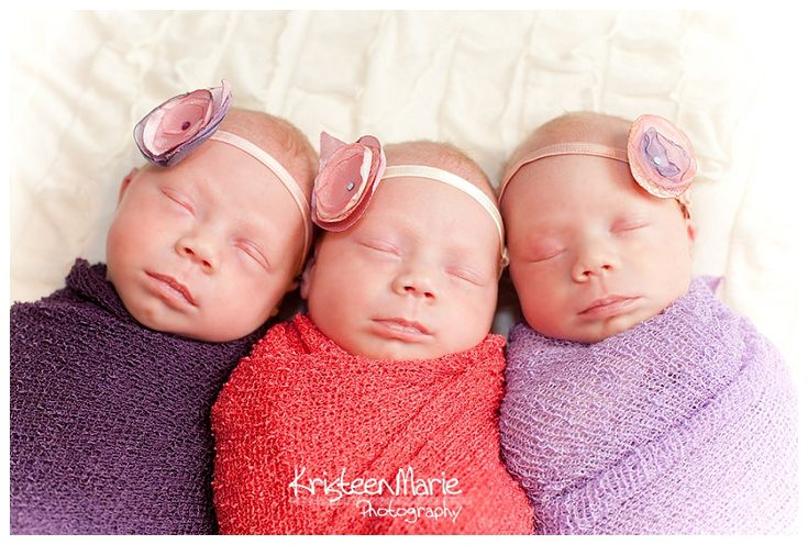 Newborn Triplets Girls – Indianapolis Newborn Photography