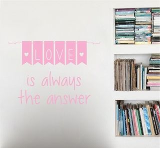 love is always the answer vinilo decorativo frases amor decoración