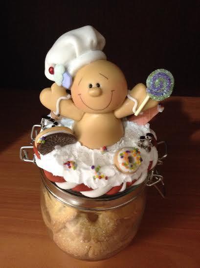 Galletero de galleta de jengibre en pasta flexible