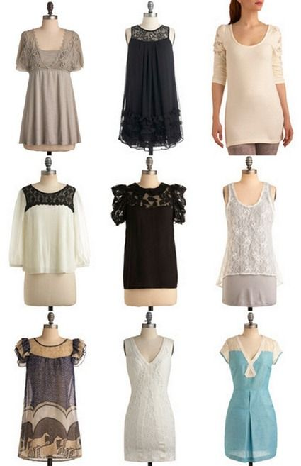 link to tutorial for lace top t shirt refashion, but what I really love are these inspiration tops... I think I could make one or two of those!
