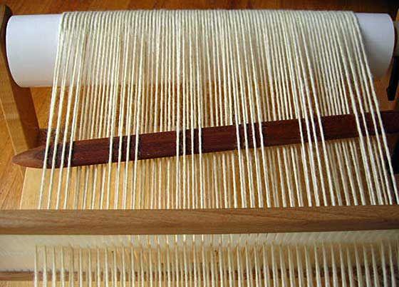 How to do woven shibori on a rigid heddle loom