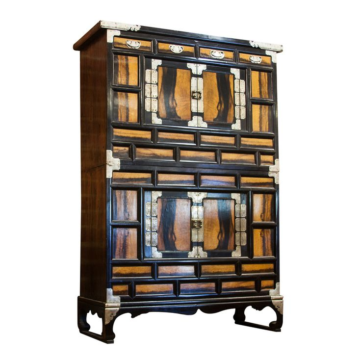 Korean chest with iron mounts antique vintage chests for Oriental furniture norwalk ct