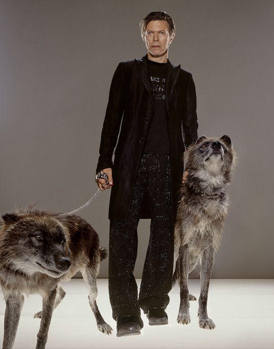 One of Markus Klinko's photos of David Bowie for GQ. Courtesy Markus Klinko.