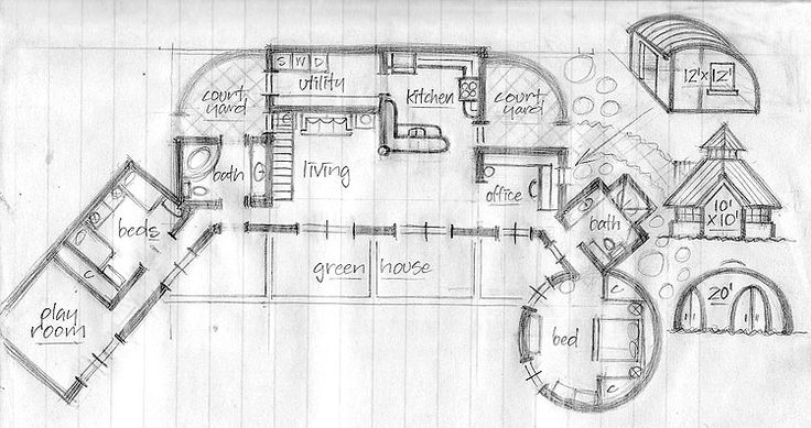 PALMER STUDIO - Sketches - earthship floor plans