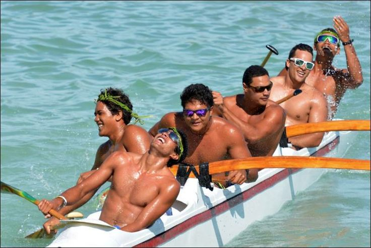 Vaka Eiva Canoe Race - Rarotonga