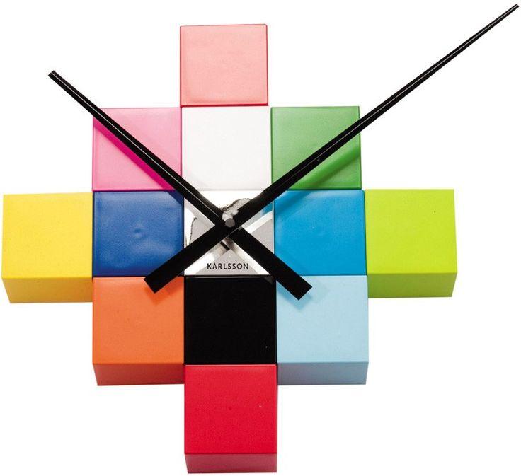 Karlsson Veggur DIY Cubic Multi Colour KA4306 fra Klokker. Om denne nettbutikken: http://nettbutikknytt.no/klokker/
