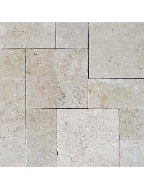 16 in. x 16 in. Tuscany Beige Tumbled Travertine Paver Tile #Tuscany_Beige #Travertine_Tumbled #Travertine_Paver_Tile #Travertine_Tile