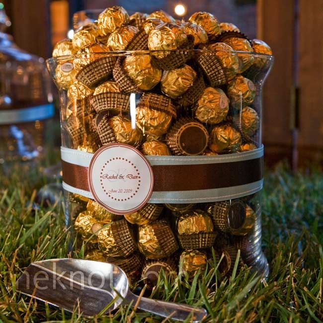 Ferrero Rocher!!!! Maybe in a three tier display to replace a wedding cake?