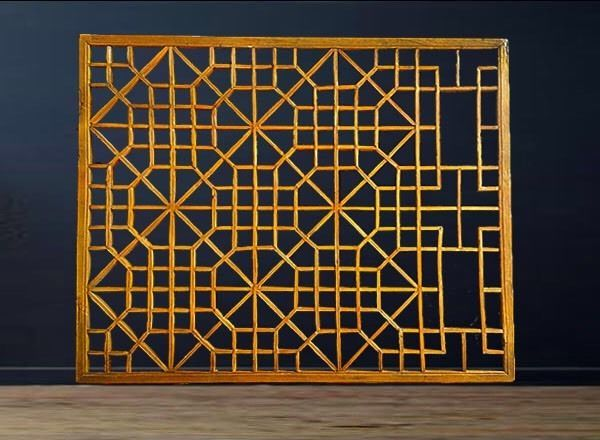 Antique Chinese Window Screens c1920 Fretwork Wooden Architectural Salvage Panel | eBay