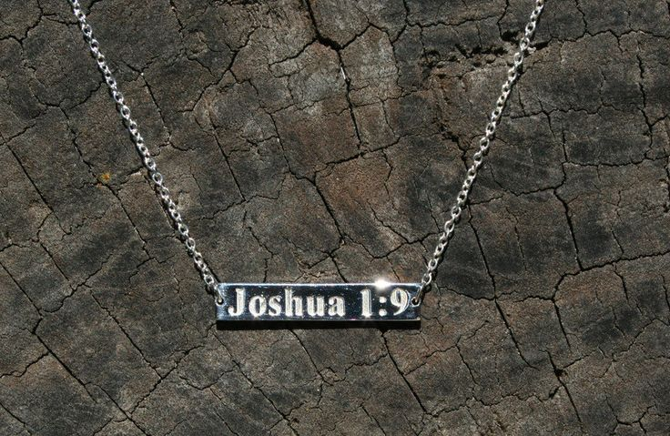 Customised Bible verse necklace, Christian necklace, Religious necklace…