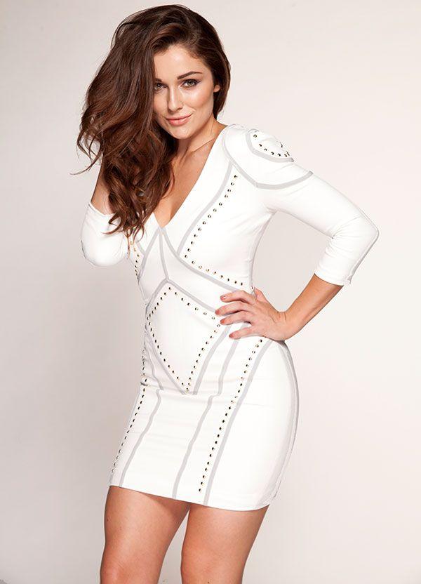 WHITE PENCIL DRESS - Gunda Daras