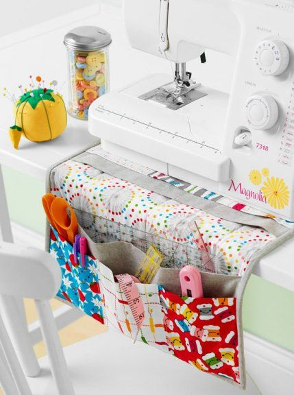 Sewing station caddy from Quilts and More magazine - Winter 2014  issue @ AllPeopleQuilt.com