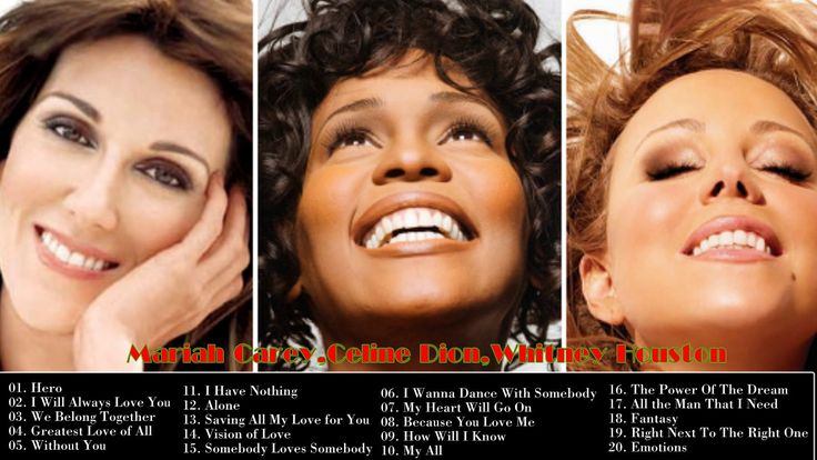BEST OF Mariah Carey,Celine Dion,Whitney Houston GREATEST HITS (NEW 2017)