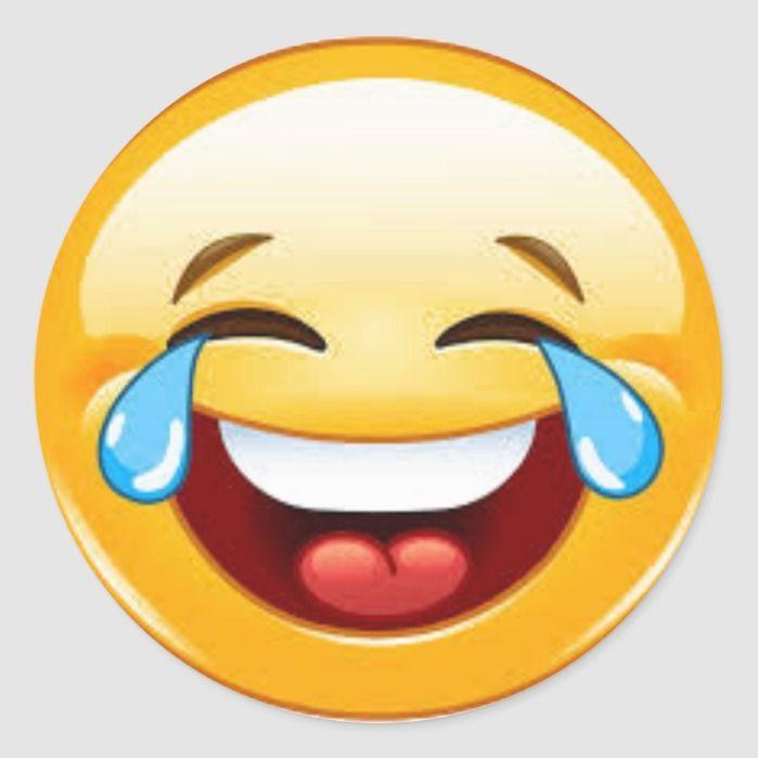 Crying Laugh Emoji Sticker Zazzle Com Laughing Emoji Funny Emoji Faces Emoji Stickers