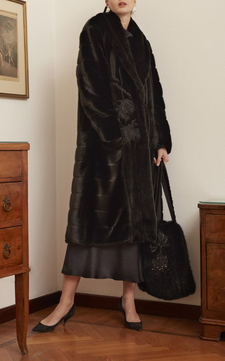 Marei 1998, Holly Silk Dress and Faux Fur coat.
