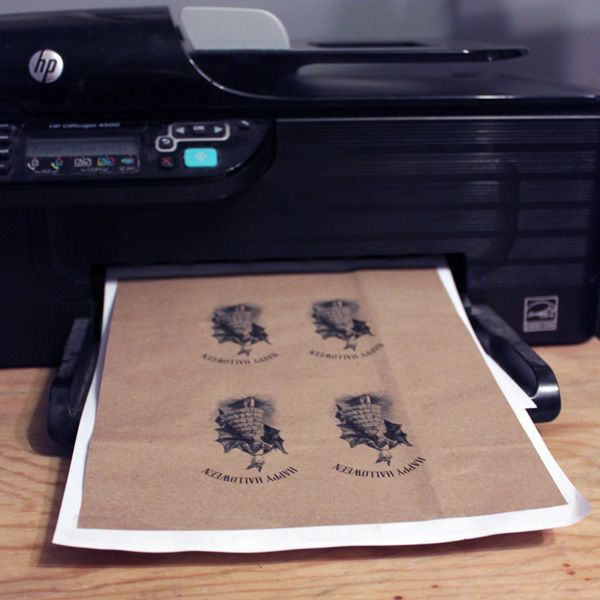 How to Print on Brown Paper Bags - Green Craft Technique! - The Graphics Fairy