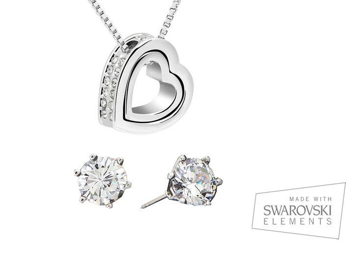 Conjunto Eternity, una #joya que enamora, combina la #plata con elementos #swarovksi, el mejor #regalo para una mujer, ;) http://ow.ly/z7yhZ