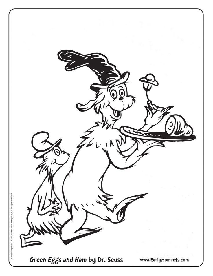 17+ Green eggs and ham coloring page download HD
