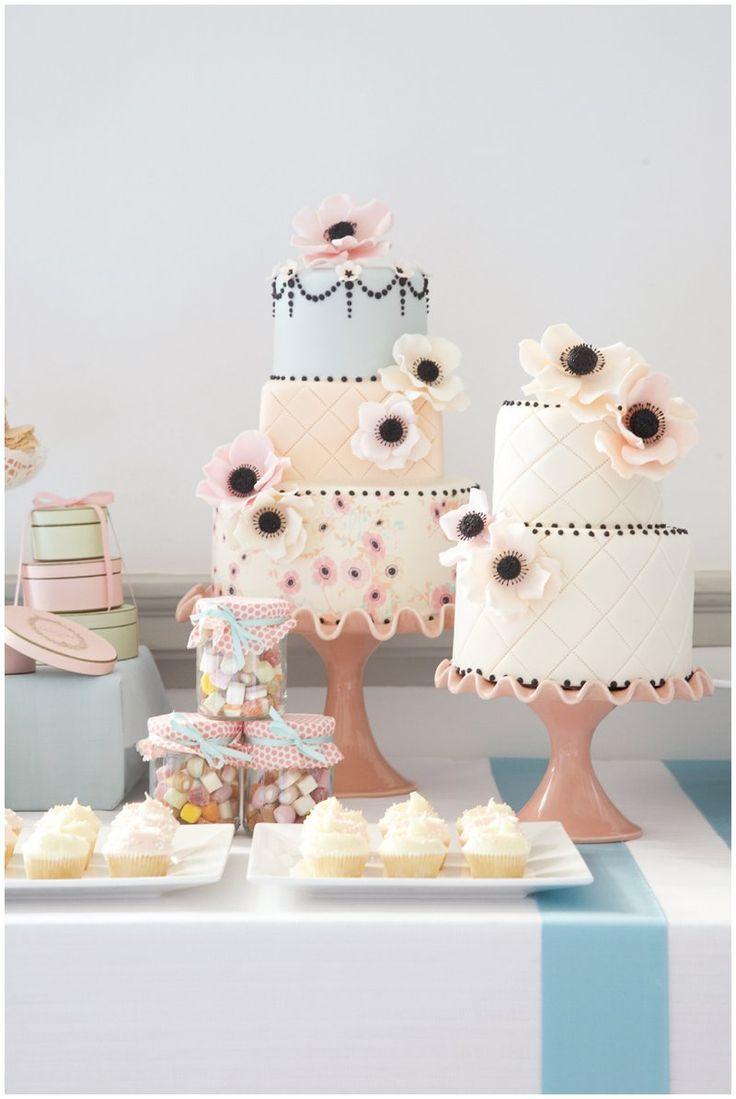 Vintage Inspired Wedding Cake we ❤ this! moncheribridals.com #weddingcakes