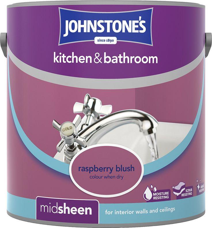 raspberry blush-kitchen and bathroom   Painted island