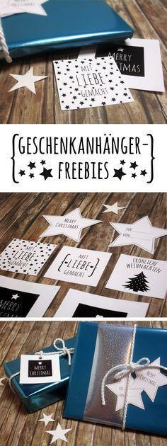 Weihnachtsgeschenke schnell und einfach verpacken - mit Geschenkanhängern zum…