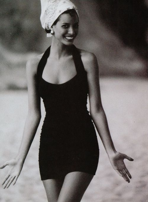 Christy Turlington,photographed byPatrick Demarchelierfor the May 1991 issue of Vogue.