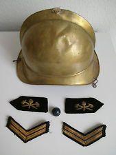 ANTIKER FEUERWEHR-NACHLASS HELM KNOPF EMBLEME UM 1900 ABZEICHEN UNIFORM RARE!!