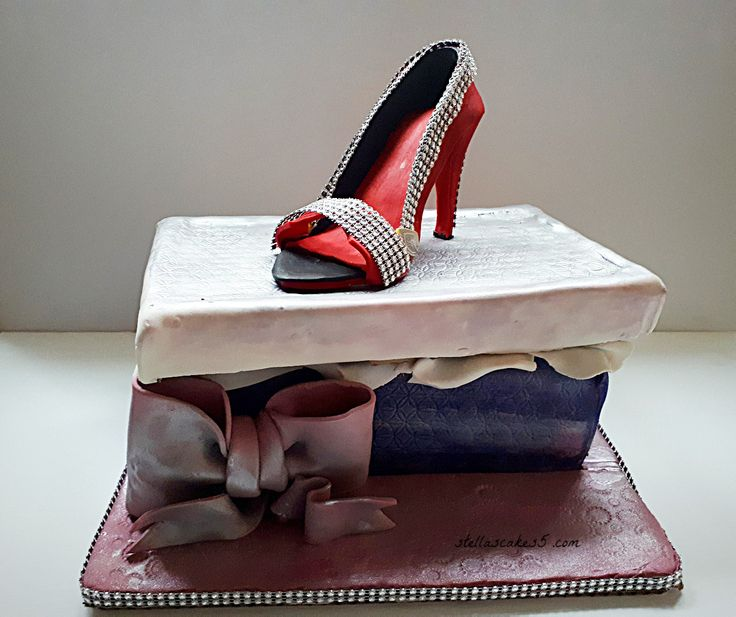 Birthday Cake Designer Shoe with box