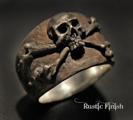 Skull Ring anillo de pirata calabera anillo anillo de por DeadRings