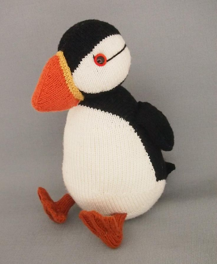 Jamie the shetland puffin Knitting pattern by ...