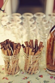 Weddings | Signature Cocktails Anyone? - Apple cider bar - #weddings #cocktails