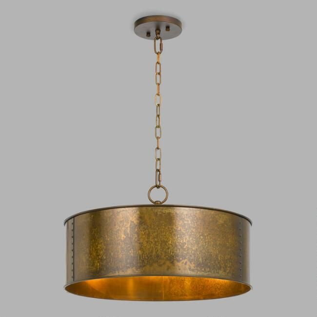 The Winta Has A Bronze Hued Metal Drum Shade With A Truly Unique