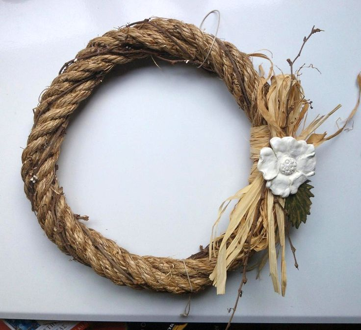 #wreath #spring #rope #handmade