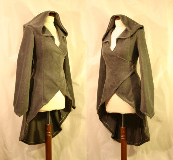 Olive Green Longer at Back Wrap Around Psy by EuphoricGarments