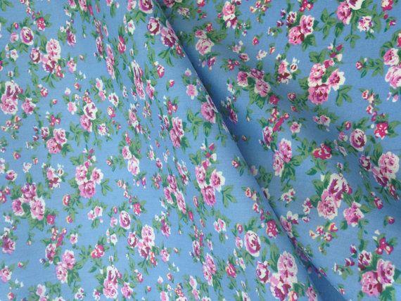 Floral Denim cotton fabric Summer dress Material Patchwork