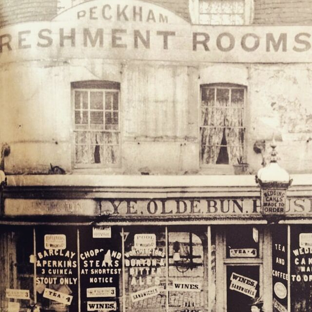 Ye Olde Bun House, Peckham. The original Peckham Refreshment Rooms aka Ye Olde Bun House c.1895