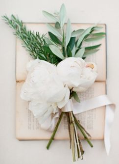 peonies and olive branch bouquet