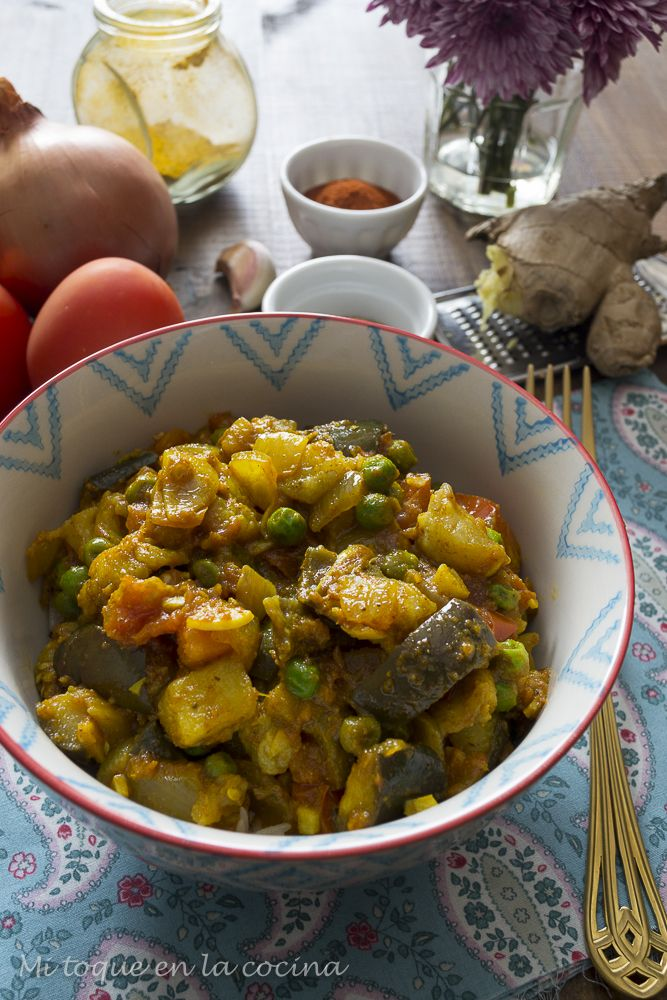 Mi toque en la cocina: Baingan bharta (curry indio de berenjena)