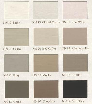 NN12 Putty; de kleur voor de keukenwand en woonkamer New Neutrals Painting the Past (NN12 Putty) en Calico deze week op de muur.
