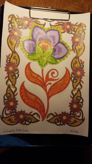 Creative Haven Mehndi Designs Coloring Book Marco Raffine Colored Pencils